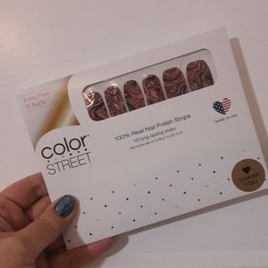 4/$48 color street nails Best of both swirls black